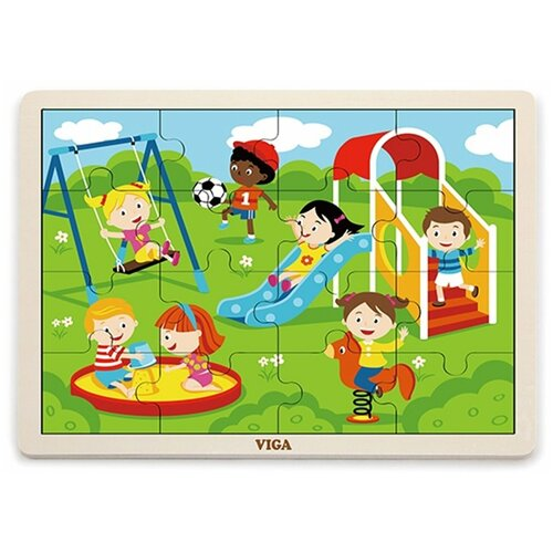Пазл Viga Парк развлечений (51454), 16 дет.