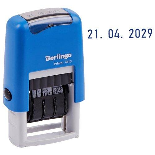 Датер Berlingo Printer 7810 ленточный синий (BSt_82202)