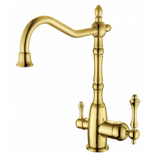 Смеситель для кухни (мойки) GANZER Silestis GZ77022E однорычажный золото