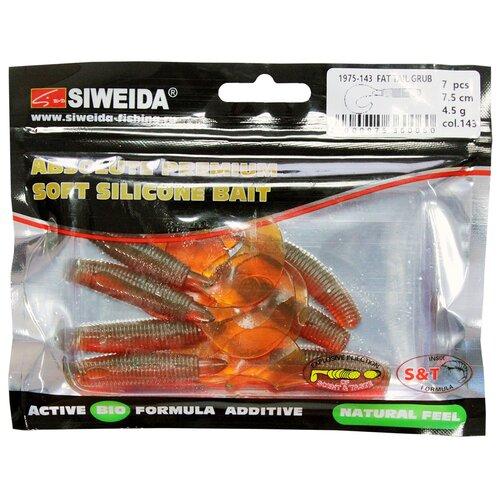 Набор приманок резина SIWEIDA Fat Tail Grub твистер цв. 143 7 шт.