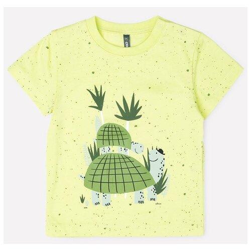 Купить Футболка crockid, размер 80, солнечный лайм, крапинка к274, Футболки и рубашки