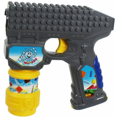 Пистолет для пускания мыльных пузырей 1 TOY Мы-шарики!, 59 мл Т15065 серый