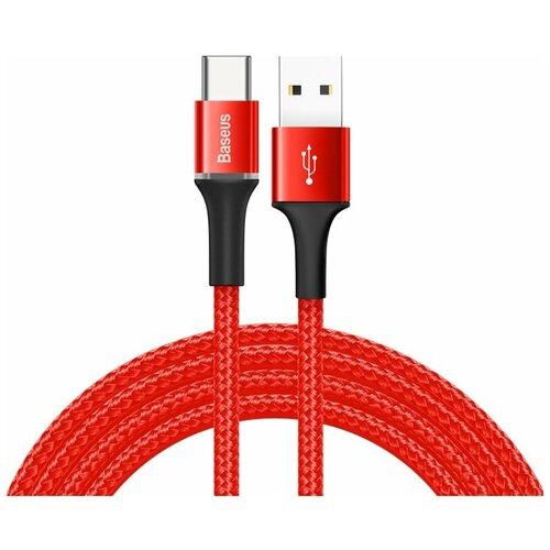Фото - Кабель Baseus Halo Data Cable USB - USB Type-C (CATGH-C) 2 м, красный кабель micro usb baseus camgh e01 halo data cable usb for micro 2a 3м black черный