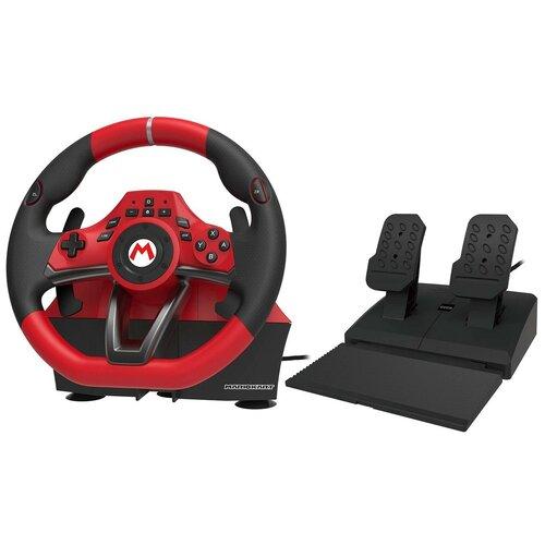 Руль HORI Mario Kart Racing Wheel Pro Deluxe, черный/красный