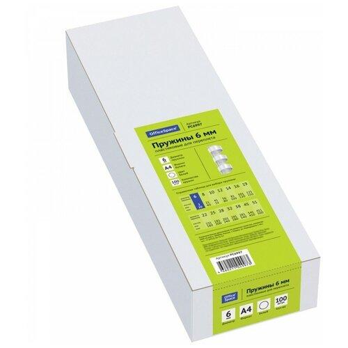 Фото - Пружина OfficeSpace пластиковые 6 мм прозрачный 100 шт. пружина officespace пластиковые 22 мм белый 50 шт