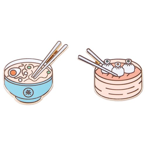 Doiy Комплект брошей Pinaholic Asian Food