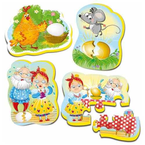 Набор пазлов Vladi Toys Курочка ряба (VT1106-61) пазлы vladi toys игра настольная макси пазлы путешествие по сказке курочка ряба