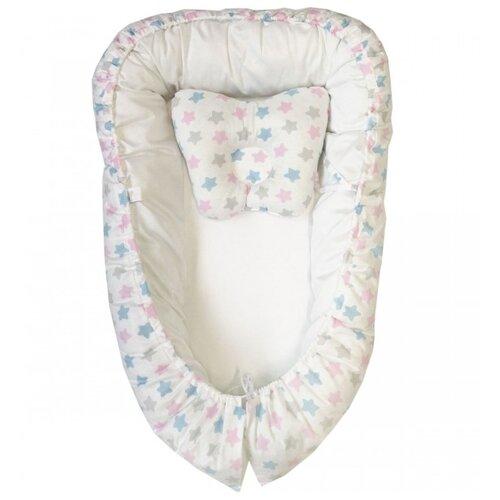 Комплект Папитто Комплект Кокон с подушкой Бабочка Белый белый