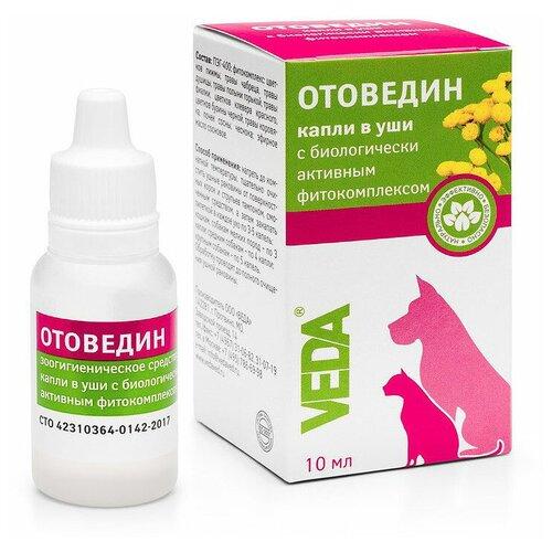 VEDA капли в уши от блох и клещей Отоведин для кошек и собак veda veda отодепин зоогигиеническое защитное средство капли в уши с маслом сосны для собак и кошек 10 мл