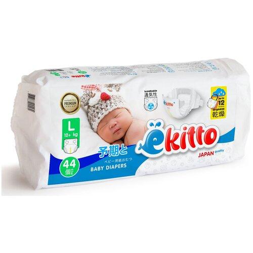 Купить Ёkitto подгузники L (12+ кг) 44 шт., ёkitto, Подгузники