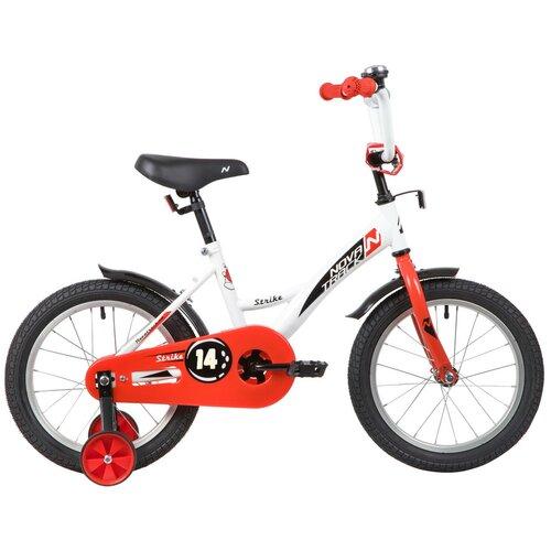 детский велосипед navigator bingo вн12158 белый с рисунком требует финальной сборки Детский велосипед Novatrack Strike 14 (2020) белый/красный (требует финальной сборки)