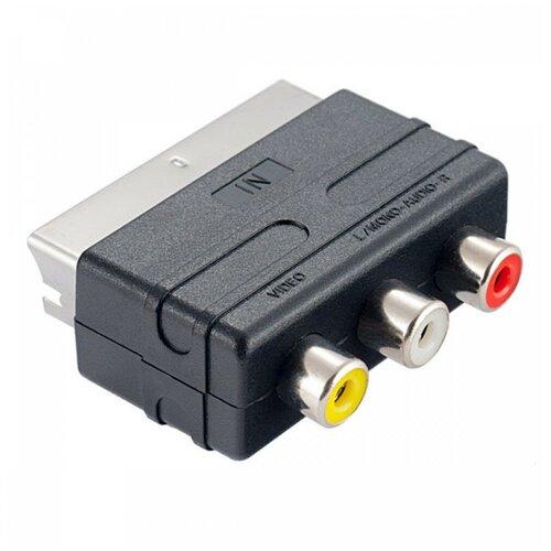 Адаптер Perfeo SCART - RCA (A7007) черный