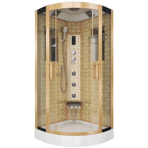 Душевая кабина Niagara Luxe NG-7715 низкий поддон 90см*90см золотой прозрачное душевая кабина am pm like высокий поддон 90см 90см хром прозрачное