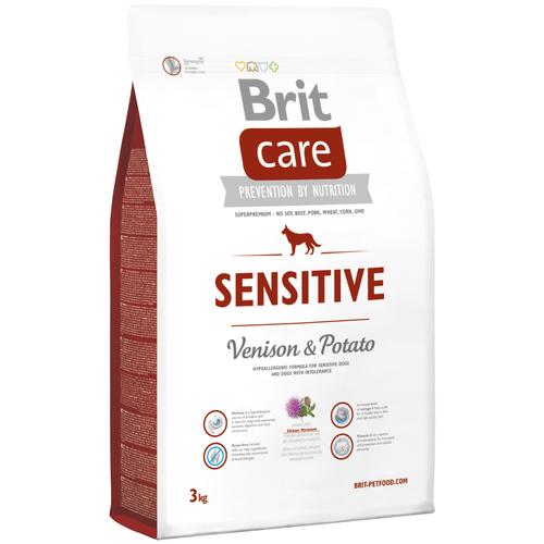 Фото - Сухой корм для собак Brit Care, беззерновой, при чувствительном пищеварении, оленина, с картофелем 3 кг сухой корм для щенков brit care лосось с картофелем 3 кг