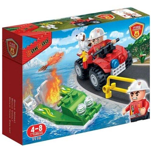 Купить Конструктор BanBao Пожарные 7118, Конструкторы