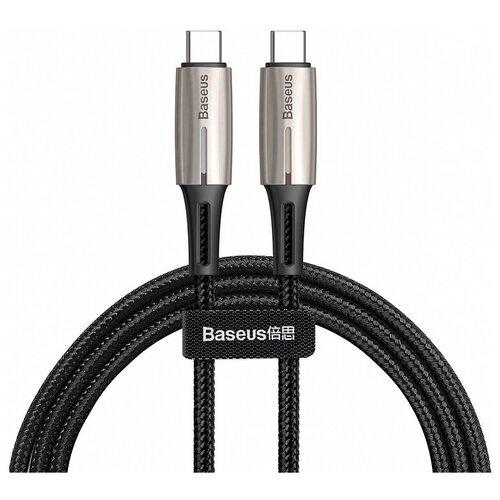 Фото - Кабель Baseus Water Drop-shaped Lamp USB Type-C - USB Type-C (CATSD-K) 2 м, черный кабель baseus u shaped usb lightning usb type c camutc 0 23 м черный
