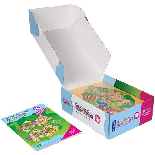 Фото - Набор рамок-вкладышей Step puzzle Игровой комплект №1 Весёлая шнуровка, Одень куклу, Весёлое лото (40201) step puzzle книжки игрушки умный паровозик игровой комплект 3
