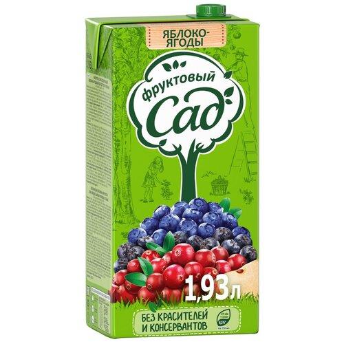 Напиток сокосодержащий Фруктовый сад Яблоко-Ягоды, с крышкой, 1.93 л
