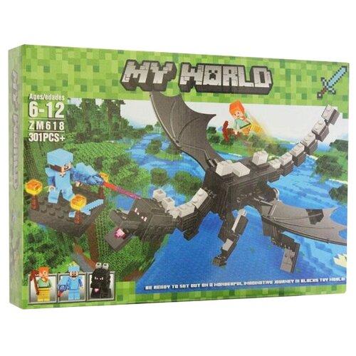 Купить Конструктор ZIMO My World ZM618 Черный дракон, Конструкторы