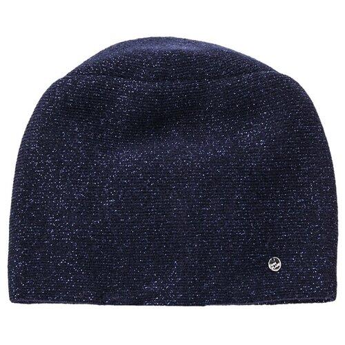 шапка женская finn flare цвет ярко синий a20 11148 111 размер 56 Шапка женская Finn Flare, цвет: темно-синий A20-11167_101, размер: 56
