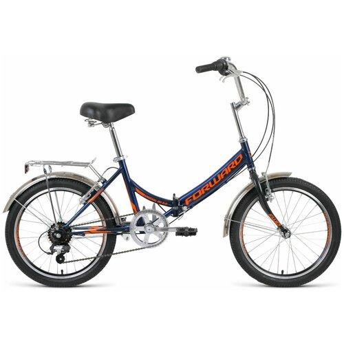 Городской велосипед FORWARD Arsenal 20 2.0 (2020) темно-синий/оранжевый 14 (требует финальной сборки) детский велосипед forward nitro 18 2020 оранжевый белый требует финальной сборки