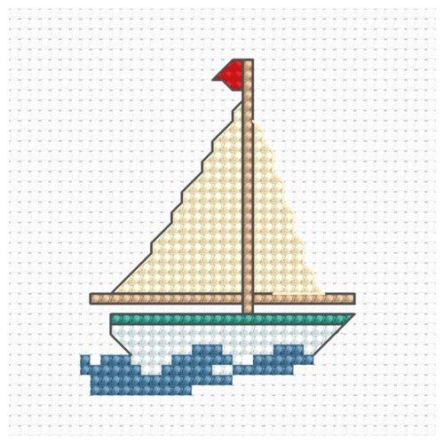Купить Набор для вышивания «Парусник», 5, 5x6, 7 см, Luca-S, Наборы для вышивания