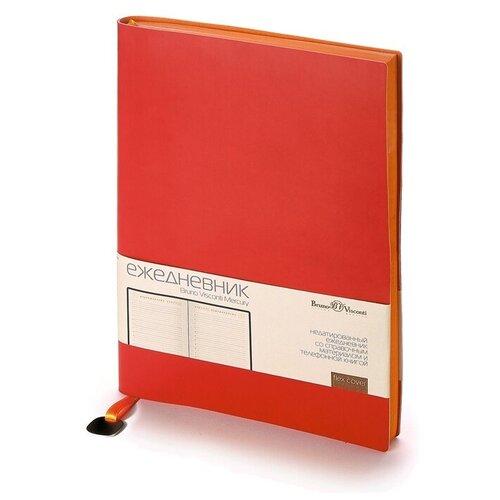 Купить Ежедневник А5 недатированный «Mercury», красный, Bruno Visconti, Ежедневники