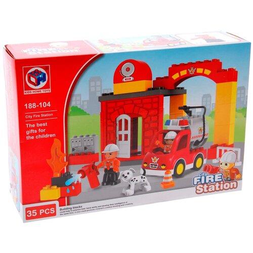 Конструктор Kids home toys 188-104 City Fire Station