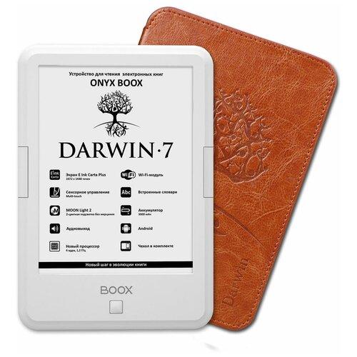 Электронная книга ONYX BOOX BOOX Darwin 7 8 ГБ белый обложка