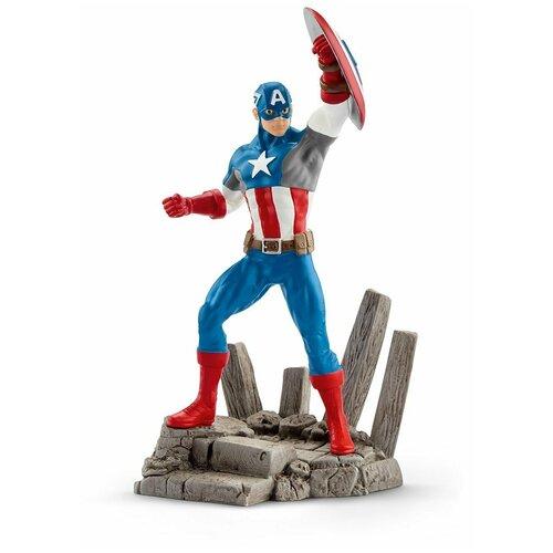 Фигурка Schleich Капитан Америка 21503/12013, Игровые наборы и фигурки  - купить со скидкой