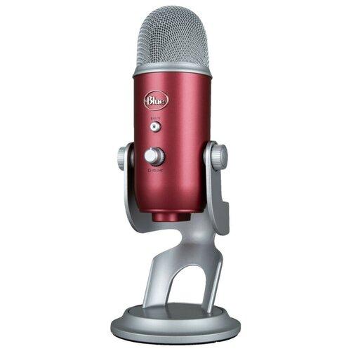 Микрофон Blue Yeti, красный/серебристый