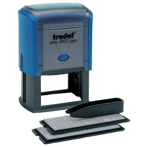 Фото - Штамп Trodat 4927/DB прямоугольный самонаборный синий штамп trodat 4911 прямоугольный копия верна черно серый корпус синий