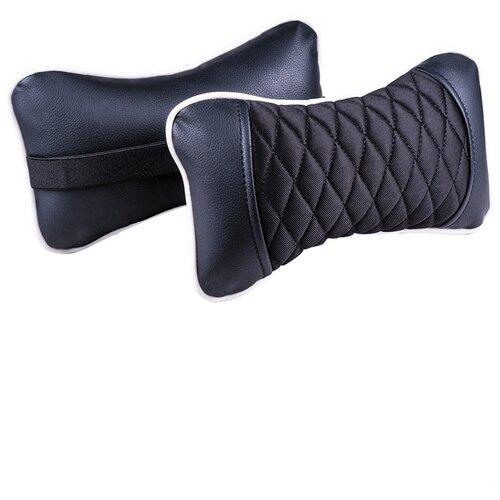 Комплект автомобильных подушек под шею (Element, черный/черный/белый, 2 штуки)