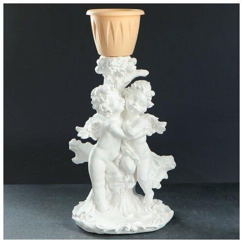 Хорошие сувениры Фигурное кашпо Пара ангелов белые 62см фигурное кашпо пара ангелов бронза 63см 1145958