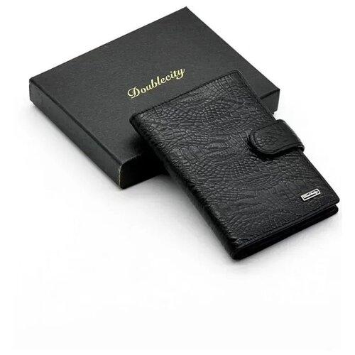 Мужская кожаная обложка для паспорта и автодокументов с RFID защитой Doublecity 068-DC31-17A (101666)