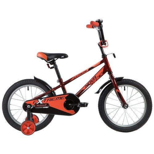 Фото - Детский велосипед Novatrack Extreme 16 (2019) коричневый (требует финальной сборки) детский велосипед novatrack urban 16 2019 синий требует финальной сборки