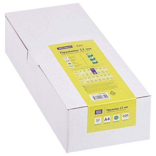 Фото - Пружина OfficeSpace пластиковые 12 мм зеленый 100 шт. пружина officespace пластиковые 6 мм красный 100 шт