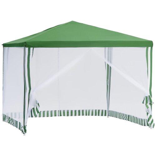 Шатер Green Glade 1036, 3 х 3 х 2.5 м белый/зеленый шатер green glade 1032 3 х 3 х 2 5 м синий белый