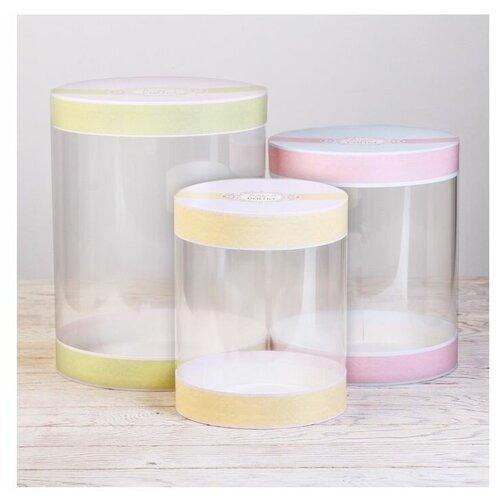 Фото - Набор подарочных коробок Дарите счастье Красота, 3 шт. зеленый/желтый/розовый набор подарочных коробок дарите счастье нежность 3 шт розовый