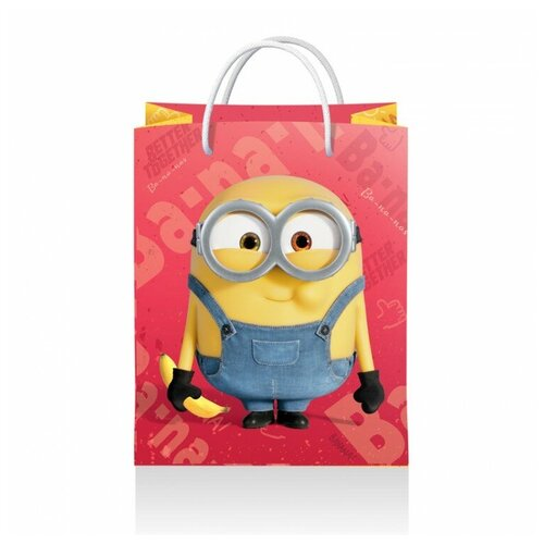 Фото - Пакет подарочный ND Play Minions 2, 3D дизайн 18 х 22.3 х 10 см розовый пакет подарочный nd play lol 25 х 35 х 10 см мятный розовый