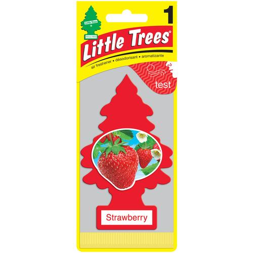 Фото - Little Trees Ароматизатор для автомобиля Ёлочка Клубника (Strawberry) 12 г little trees ароматизатор для автомобиля u3s 32967 eu пина колада