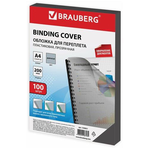 Фото - Обложка BRAUBERG для переплета A4 200 мкм, пластик прозрачно-дымчатый 100 шт. демосистема brauberg solid a4 236719