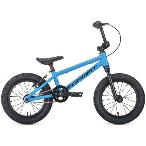 Детский велосипед Format Kids BMX 14 (2020) голубой (требует финальной сборки)