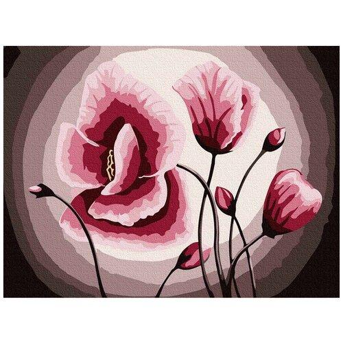 Купить Картина по номерам Розовые маки , 15x20 см, Molly, Картины по номерам и контурам