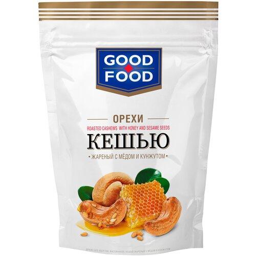Кешью GOOD FOOD жареный с медом и кунжутом, 130 г арахис good food жареный с медом и кунжутом 130 г