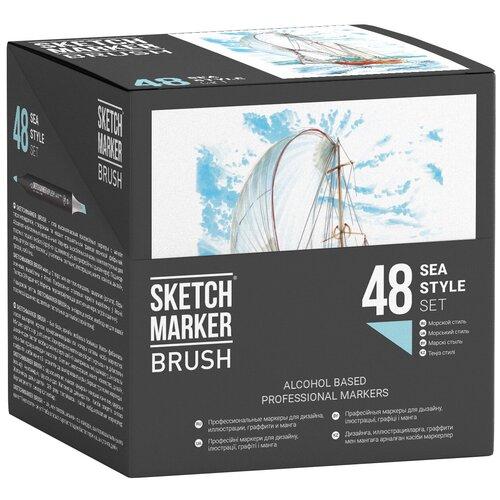 Фото - SketchMarker Набор маркеров Brush Sea Style, 48 шт. sketchmarker набор маркеров brush oriental style set 48 шт