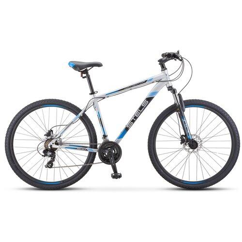 велосипед stels navigator 900 d 29 f010 21 серебристый синий Горный (MTB) велосипед STELS Navigator 900 D 29 F010 (2020) серебристый/синий 21 (требует финальной сборки)