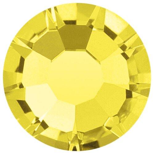Купить Стразы клеевые PRECIOSA 2, 7 мм, стекло, 144 шт, лимон, 80310 (438-11-615 i), Фурнитура для украшений