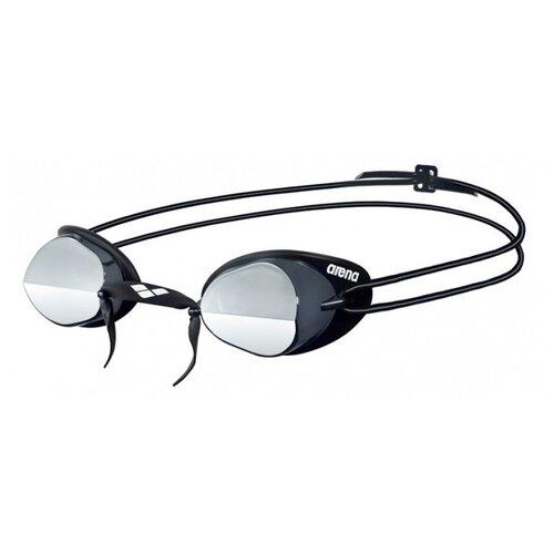 Очки для плавания arena Swedix Mirror 92399, smoke-silver-black