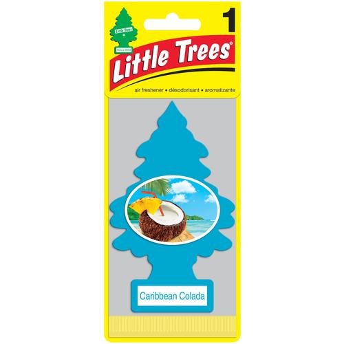 Little Trees Ароматизатор для автомобиля Ёлочка Карибский коктейль (Caribbean Colada) 11 г little trees ароматизатор для автомобиля ёлочка не курить no smoking